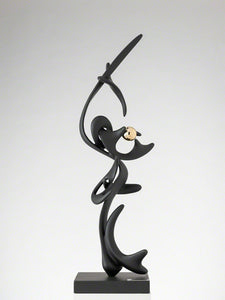 "Black Kinetic Bronze & patin sculpture ""Volo"" by Gianfranco Meggiato - BOCCARA ART Online Store"