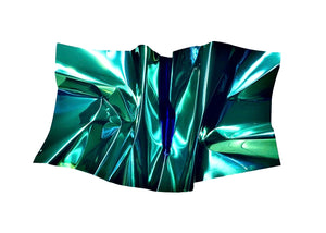 "Emerald android aluminium ""Untitled"" Wall Sculpture, María Villalónfor BOCCARA ART Galleries - BOCCARA ART Online Store"