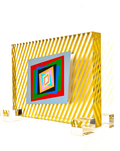 """Kinetic Transparencies-4"" sculpture by Ferruccio Gard - BOCCARA ART Online Store"