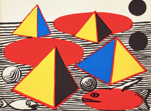 "Load image into Gallery viewer, ""Fish and Pyramides"" by Alexander Calder - BOCCARA ART Online Store"