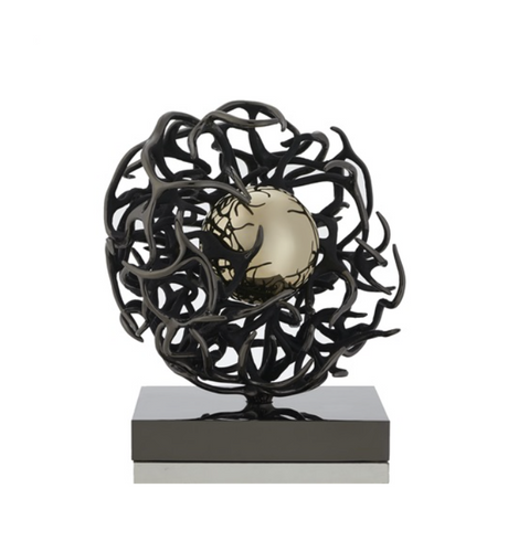 Elegant Black Italian Bronze Sculpture