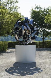 "Monumental kinetic bronze sculpture ""Sfera Antares"" by Gianfranco Meggiato - BOCCARA ART Online Store"