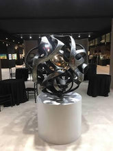 "Load image into Gallery viewer, Monumental kinetic bronze sculpture ""Sfera Antares"" by Gianfranco Meggiato - BOCCARA ART Online Store"