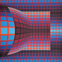 "Load image into Gallery viewer, ""Optical Cube"" by Victor Vasarely - BOCCARA ART Online Store"
