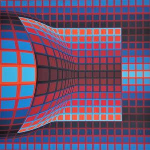 """Optical Cube"" by Victor Vasarely - BOCCARA ART Online Store"