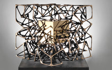 "Load image into Gallery viewer, Monumental kinetic bronze sculpture ""Cubo con Cubo"" by Gianfranco Meggiato - BOCCARA ART Online Store"
