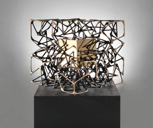 "Monumental kinetic bronze sculpture ""Cubo con Cubo"" by Gianfranco Meggiato - BOCCARA ART Online Store"