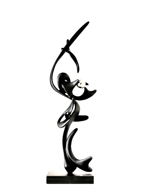 Black Kinetic Bronze & patin sculpture
