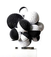 "Load image into Gallery viewer, Black&White sculpture ""Circle XXXI"" by Kim Seungwoo for BOCCARA ART"