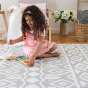 Crystals - Grey Pink | Soft Stylish Reversible Play Mat | Large