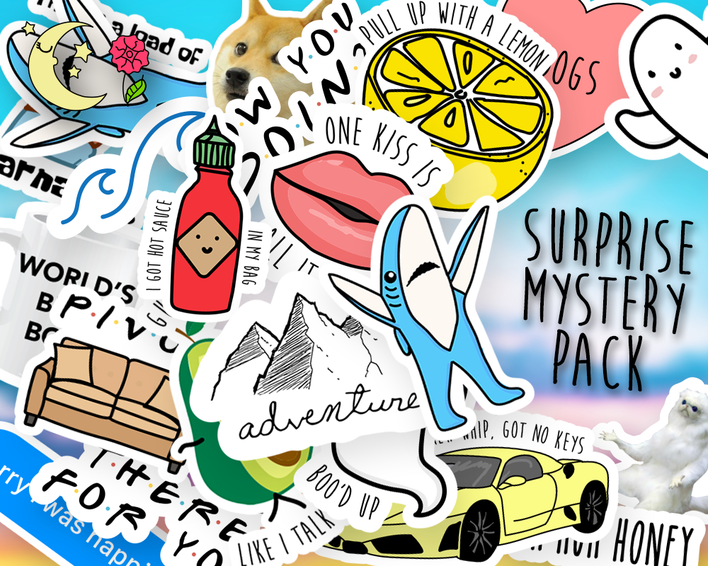 Surprise mystery sticker pack stickers mystery sticker pack cute stickers funny stickers grab bag