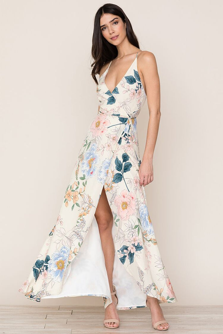 fdd60cfe96bb Yumi Kim's flowing Rush Hour Silk Maxi Dress in Rainforest Ivory is your  new go- ...