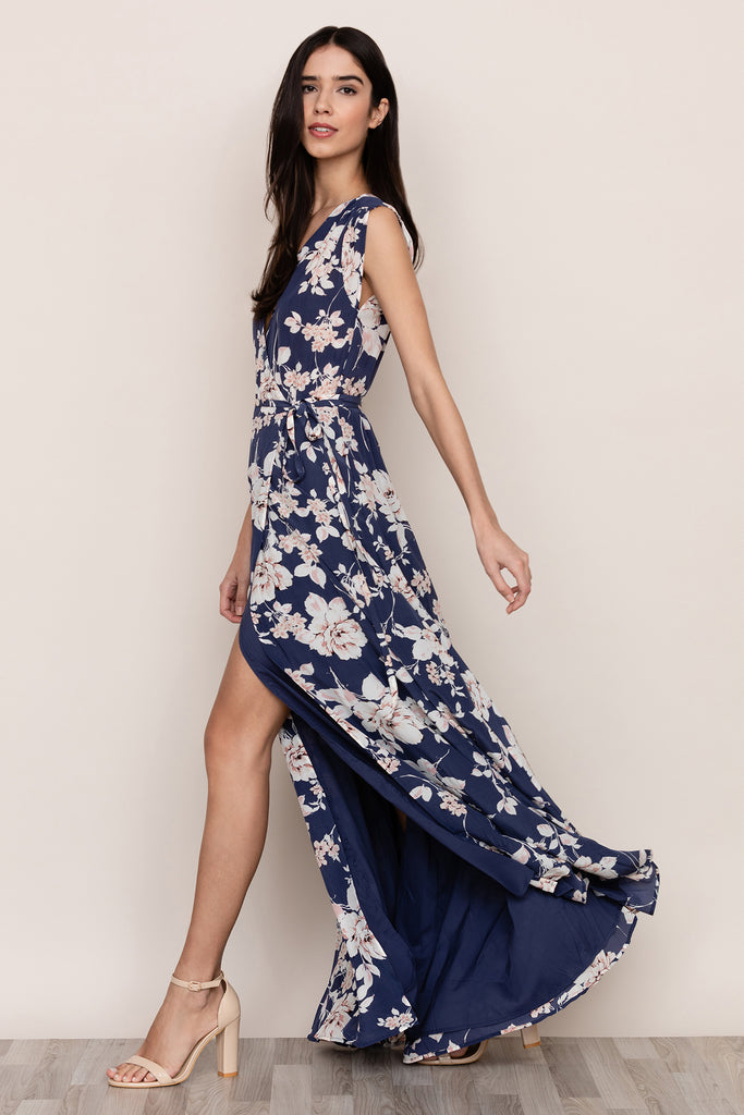 SWEPT AWAY SILK MAXI DRESS