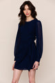 Yumi Kim's simple, yet classy Wonderland navy blue mini dress checks all the boxes.