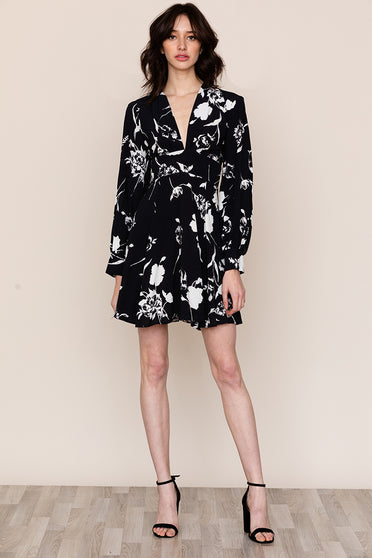 Yumi Kim's Shore Thing Long Sleeve Floral Mini Dress is your new go-to day to night look.