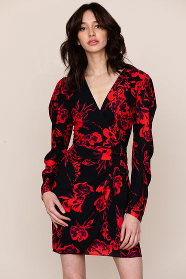 Yumi Kim's South Side Long Sleeve Floral Mini Dress is perfect for date night.