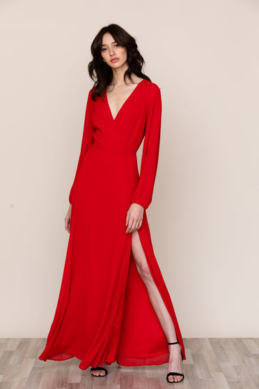 Yumi Kim's Love Affair Red Backless Maxi is ready for all of your events.