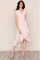 Yumi Kim's head-turning Santorini High Low Blush Silk Dress is perfect for any island getaway.