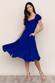 Elevate your casual chic style with Yumi Kim's Mercer Street Royal Blue Midi Dress.