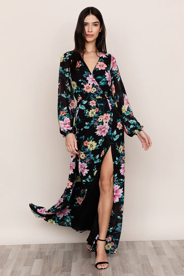 Yumi Kim's Love Affair Backless Floral Maxi Dress is ready for all of your events.