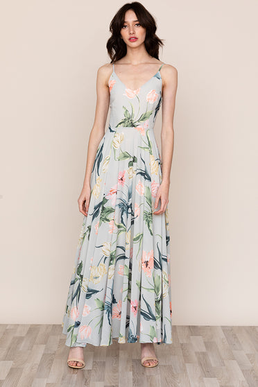Meet Yumi Kim's PEACE AND LOVE MAXI Floral Slip Dress.