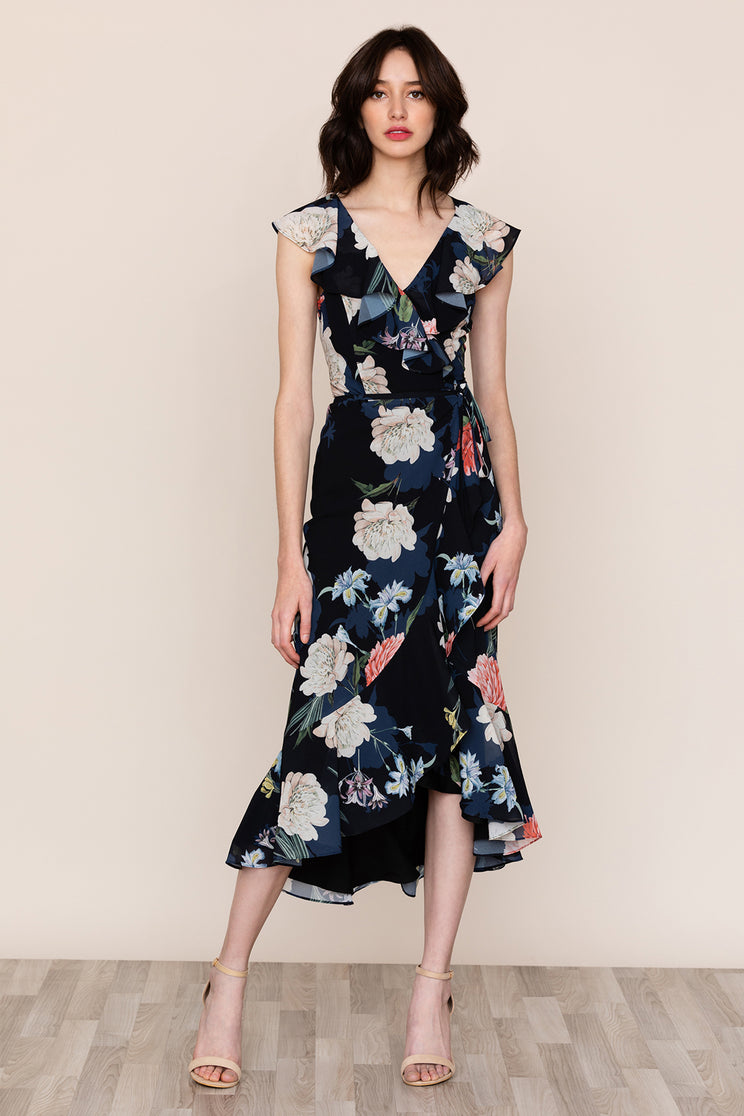 3650bf5dcfdf Be ready for any occasion in Yumi Kim's Nantucket Black Floral Ruffle Dress.