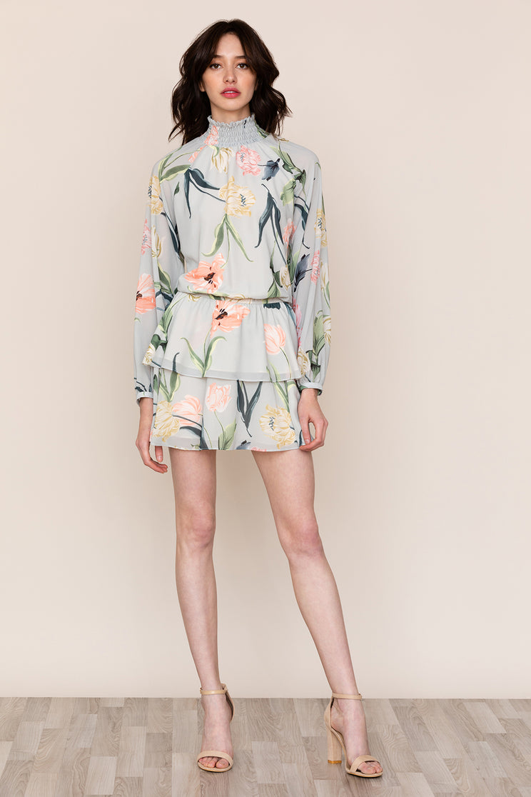 fac33197aa79 Yumi Kim's Class Act dress is a fun take on a high neck floral dress that  ...