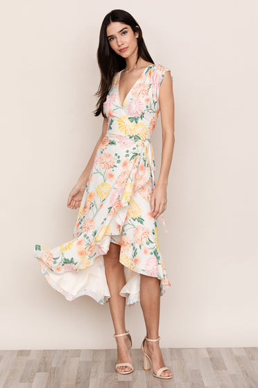 Yumi Kim's head-turning Santorini High Low Silk Floral Dress is perfect for any island getaway.