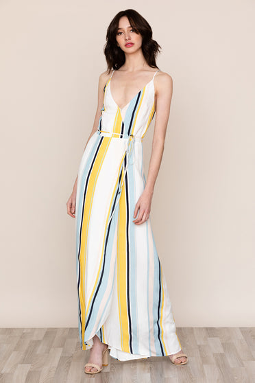 Yumi Kim's striped Rush Hour Maxi Dress in True Colors is your new go-to from weddings to running around the city.