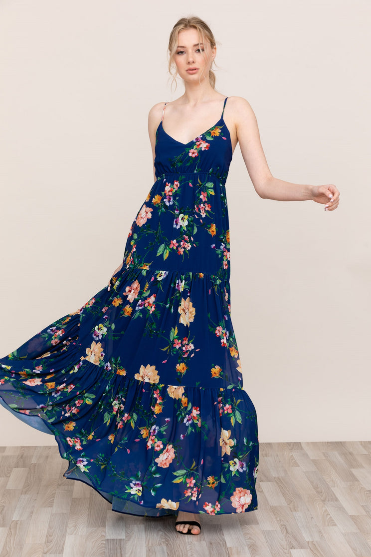 06f14583921 Yumi Kim the Darling Navy Blue Floral Maxi Dress is flattering, elegant,  and comfortable ...