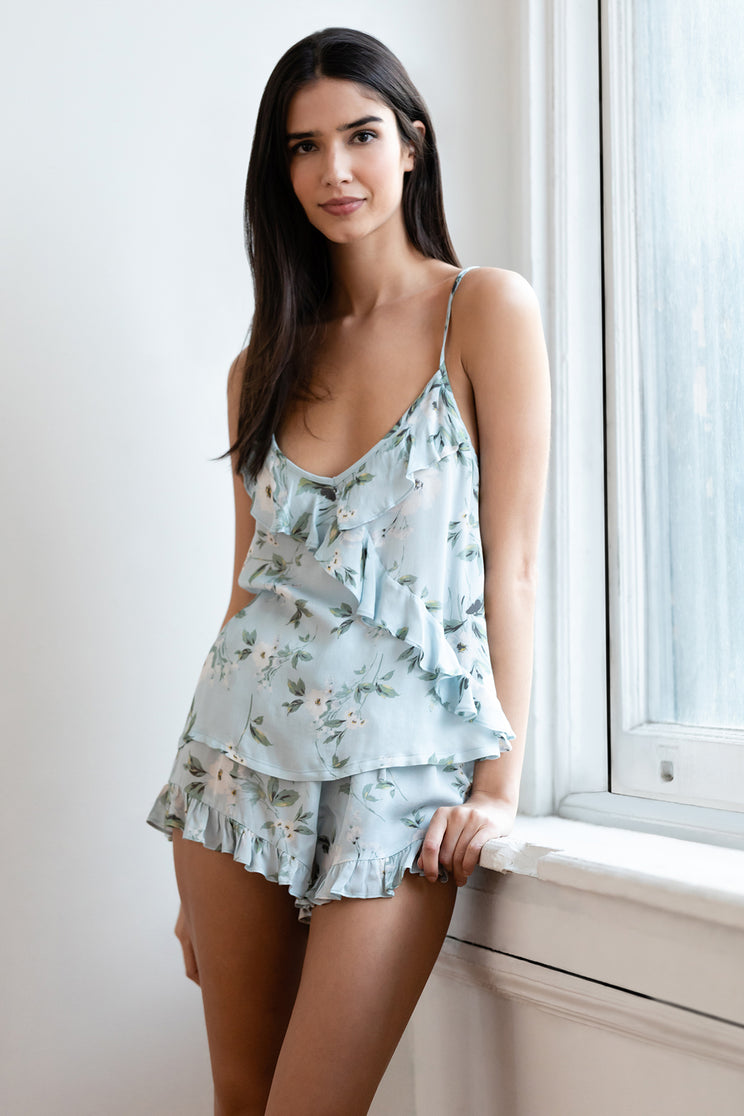 Relax in style in Yumi Kim's two piece Match Maker floral pajama set summer.