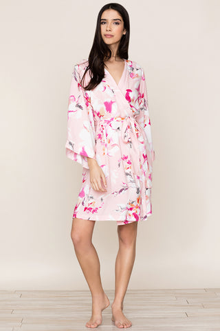 Dream Lover Bridesmaid Robe by Yumi Kim.  The kimono-inspired design and Love Is In The Air Cameo floral robe is perfect for bridesmaids on wedding day.