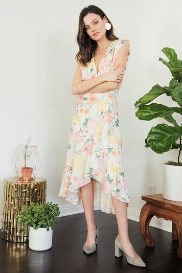 Yumi Kim's head-turning Santorini High Low Floral Dress is perfect for any island getaway.