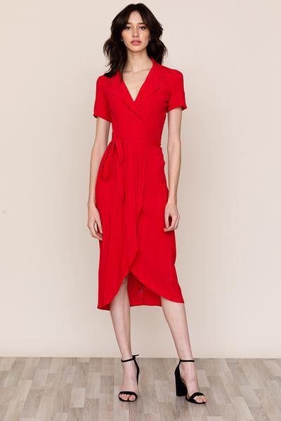 Yumi Kim's refined Meet and Greet V-neck collar dress is a staple in every closet