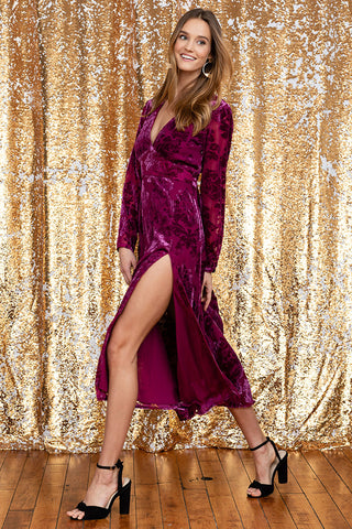 CARROLL VELVET  DRESS