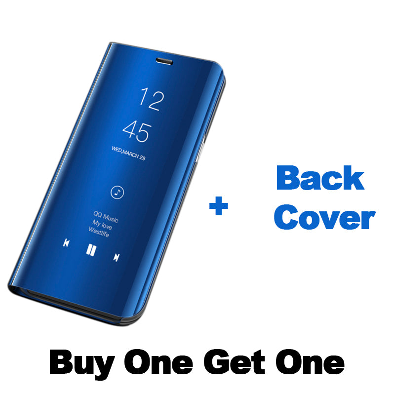 Mirror Clear View Flip Phone Case for Vivo V11 Pro