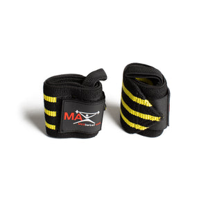 MAXbarbell Essentials Wrist Wraps - Black/Yellow