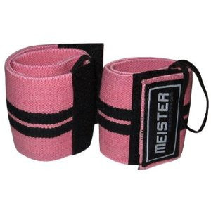 Elastic Support Wrist Wrap w/ Thumb Loop - Pink
