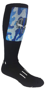 PUNISHER SKULL - The Thin Blue Line - Moxy Deadlift Socks