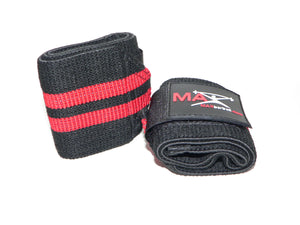 MAXbarbell Essentials Wrist Wraps - Black/Red