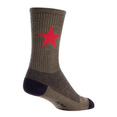 SockGuy Red Star Wool Crew