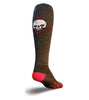 SockGuy Wool Crew 12in Red Eye Skull