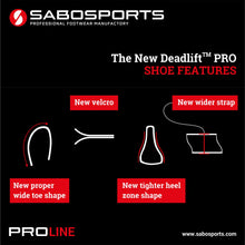 SABO Deadlift PRO Shoes - Black/Red - Limited Russian Edition