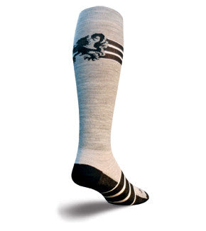 SockGuy Wool Crew 12in Black Lion