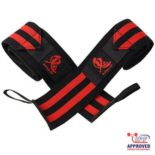 Oni Wrist Wraps 60cm IPF Approved (Black/Red)