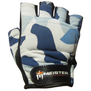 Pro Weight Lifting Gloves - Blue Camo