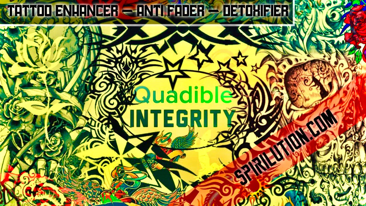 ★TATTOO INK ENHANCING - ANTI FADING METAL DETOXING FREQUENCY FORMULA★ QUADIBLE INTEGRITY