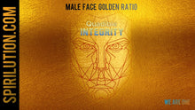 Load image into Gallery viewer, MALE GOLDEN FACE RATIO - FACIAL SYMMETRY FORMULA ★SUBLIMINAL BINAURAL BEATS MEDITATION - SPIRILUTION.COM