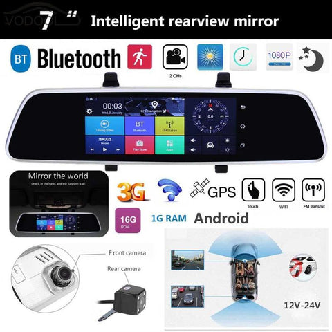 "7"" Touch Screen Car DVR Camera Bluetooth WIFI Android"