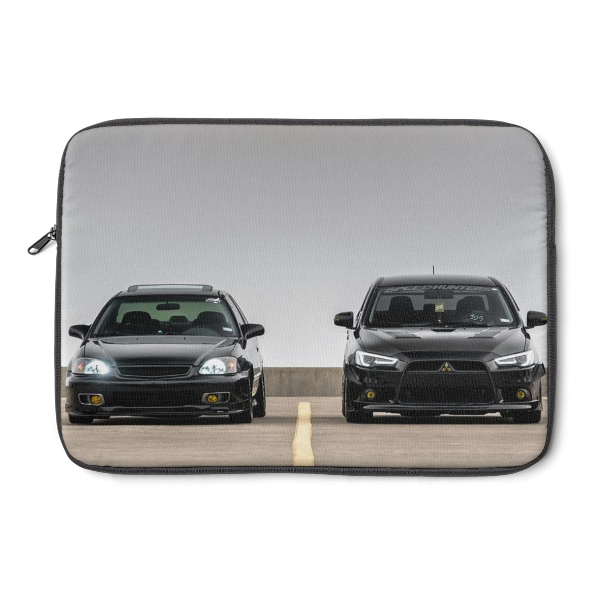 Battle of Black Cars Laptop Sleeve